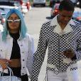 Exclusif - Blac Chyna et son compagnon BN Almighty Jay sont allés faire du shopping chez Macy à Los Angeles, le 27 mars 2018.