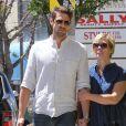 Jennie Garth et David Abrams se rendent dans la boutique Marshall avant d'aller déjeuner à Los Angeles, le 22 avril 2016.