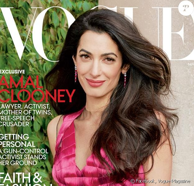 Amal Clooney en couverture du magazine Vogue de mai 2018. Photo par Annie Leibovitz.