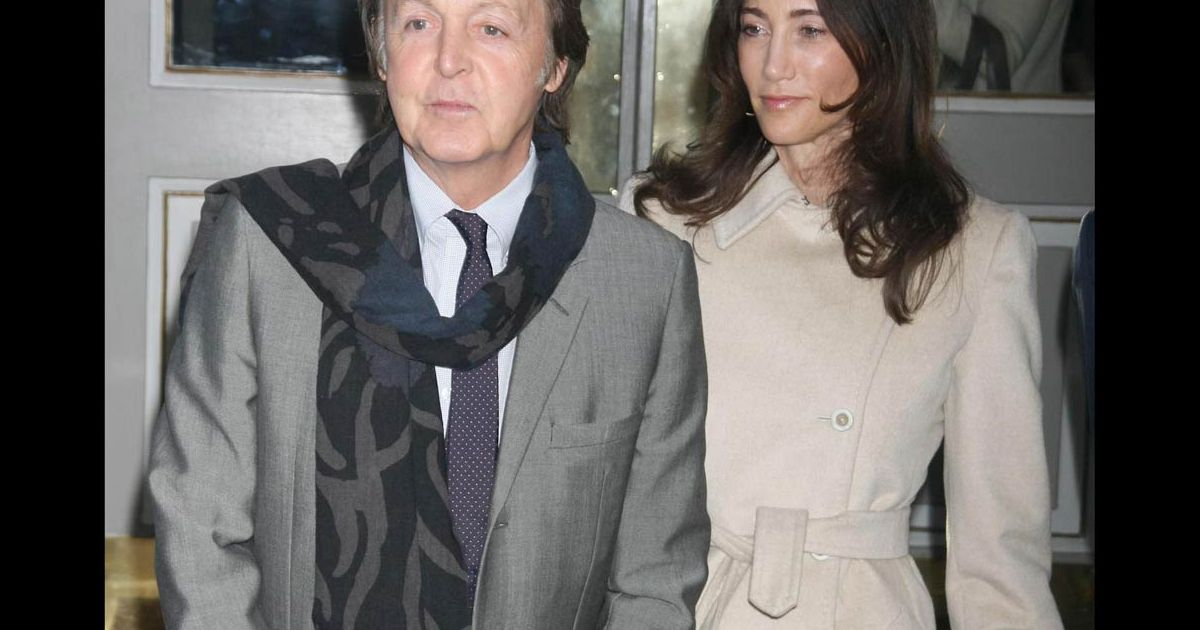 paul mccartney et sa compagne nancy shevell au 11 me gala forces for nature du nrdc. Black Bedroom Furniture Sets. Home Design Ideas