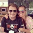 Johnny et Laeticia Hallyday au temps du bonheur à Saint-Barthélemy. Août 2018.