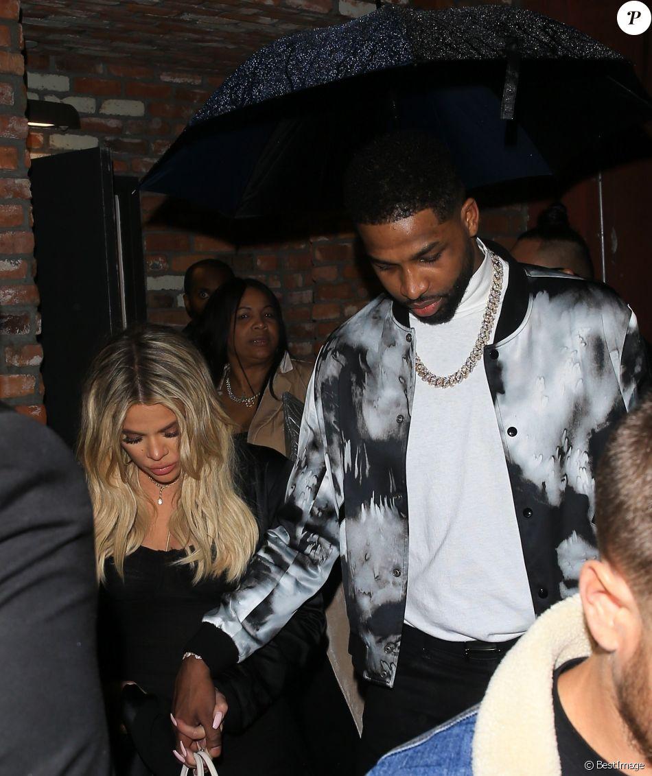 Tristan Thompson et Khloé Kardashian, enceinte - Tristan Thompson fête son 27 ème anniversaire avec ses amis et sa famille à Los Angeles le 10 mars 2018.