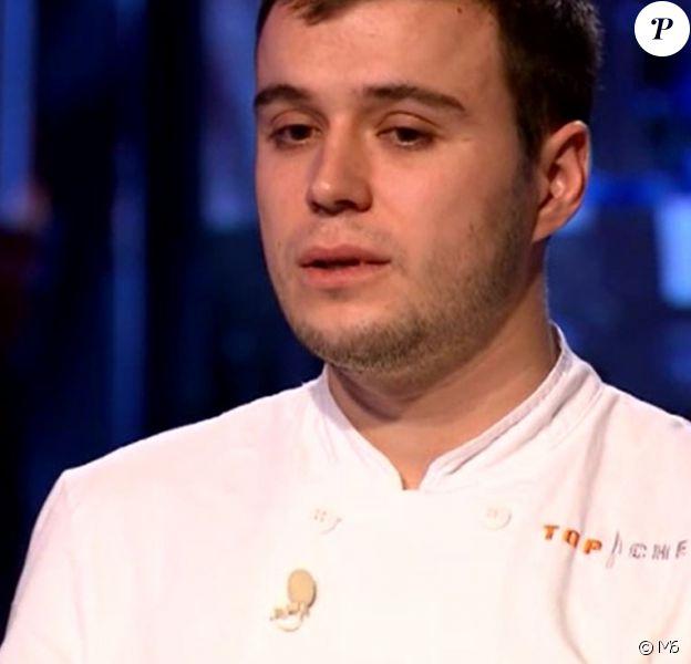 """Adrien lors de la demi-finale de """"Top Chef 2018"""" (M6) mercredi 18 avril 2018."""