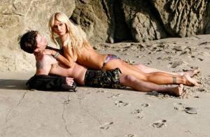Shauna Sand, sexy en diable : en plein tournage d'un film érotique avec le nouvel homme de sa vie !
