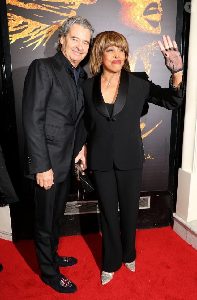 """Tina Turner et son mari Erwin Bach - Présentation à la presse de la comédie musicale """"Tina: The Tina Turner Musical"""" au théâtre Aldwych à Londres, Royaume Uni, le 17 avril 2018."""