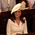 La duchesse Camilla de Cornouailles et la duchesse Catherine de Cambridge au mariage du prince Harry et de Meghan Markle le 19 mai 2018 en la chapelle St George à Windsor.