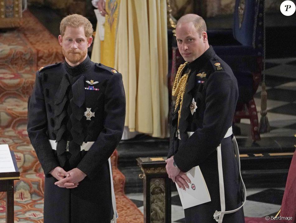 Le prince Harry avec son frère le prince William, duc de Cambridge, qui  était