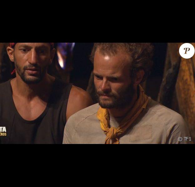 """Yassin et Alban dans """"Koh-Lanta : Le combat des héros"""" (TF1), épisode diffusé vendredi 4 mai 2018."""