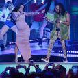 Cardi B et Ozuna aux Billboard Latin Music Awards à Las Vegas, le 26 avril 2018.