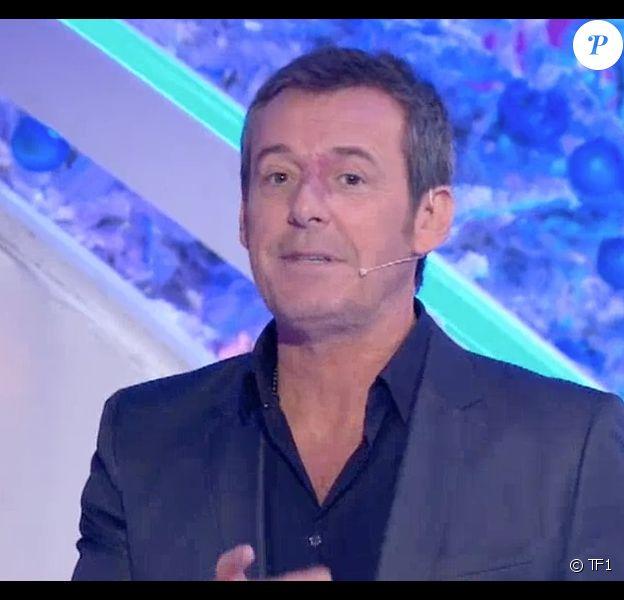 """Jean-Luc Reichmann met en garde des téléspectateurs contre un homme qui se fait passer pour lui. Emission """"Les 12 Coups de midi"""" sur TF1, le 18 décembre 2017."""