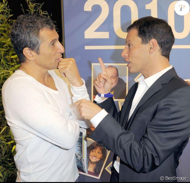 Nagui et Marc-Olivier Fogiel - Conférence de presse de rentrée de Europe 1, en 2009