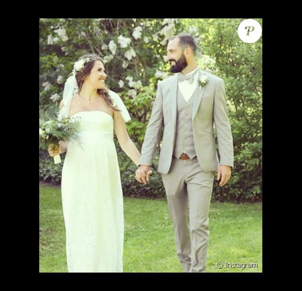 """Tiffany et Justin de """"Mariés au premier regard"""" le jour de leur mariage, 5 mai 2018"""