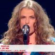 Maëlle dans The Voice 7 sur TF1, le 12 mai 2018.