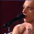 Xam Hurricane dans The Voice 7 sur TF1 le 12 mai 2018.