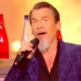 Raffi Arto et Florent Pagny dans The Voice 7 sur TF1 le 12 mai 2018.