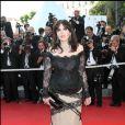 Isabelle Adjani lors de la clôture du 62e Festival de Cannes le 24 mai 2009.