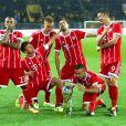 Arturo Vidal, Joshua Kimmich, Thomas Müller, Franck Ribéry, Rafinha et Robert Lewandowski - Le Bayern Munich gagne la Supercoupe en battant le Borussia Dortmund à Dortmund, le 5 août 2017.