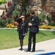 Phuong et David Jarre à l'enterrement de Maurice Jarre. 02/04/09