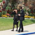 Phuong et David Jarre, à l'enterrement de Maurice Jarre 02/04/09