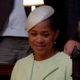 Doria Ragland en larmes en voyant sa fille Meghan Markle dans sa robe signée Clare Waight Keller pour Givenchy lors de son mariage avec le prince Harry le 19 mai 2018 à Windsor.