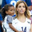Isabelle Malice (la compagne de Blaise Matuidi) et sa fille Naëlle lors du match de l'Euro 2016 Allemagne-France au stade Vélodrome à Marseille, le 7 juillet 2016. © Cyril Moreau/Bestimage