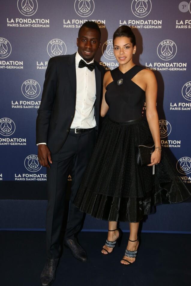 Exclusif  - Blaise Matuidi et sa fiançée Isabelle Malice - Dîner de gala au profit de la Fondation PSG au Parc des Princes à Paris le 16 mai 2017. © Rachid Bellak/Bestimage