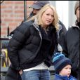 "Naomi Watts, sur le tournage de ""Fair Game"", dans le quartier de Brooklyn, à New York, le 7 avril 2009 !"