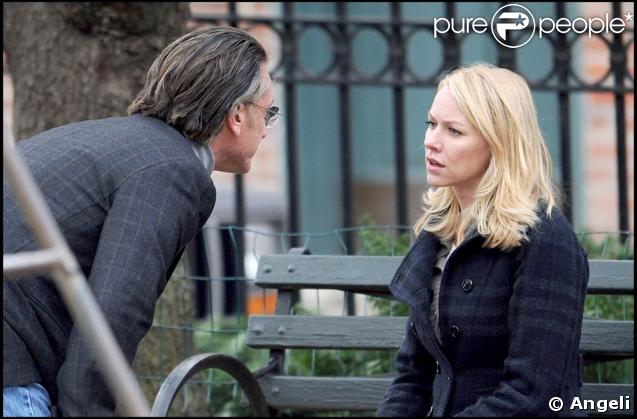 "Sean Penn et Naomi Watts, sur le tournage de ""Fair Game"", dans le quartier de Brooklyn, à New York, le 7 avril 2009 !"