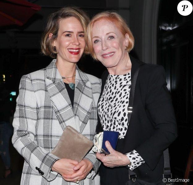 Sarah Paulson et Holland Taylor sont allées diner au restaurant Craig à West Hollywood, le 24 mars 2018.