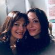 """Cécilia Hornus et Dounia Coesens dans les coulisses du tournage de """"Plus belle la vie"""". Janvier 2018."""