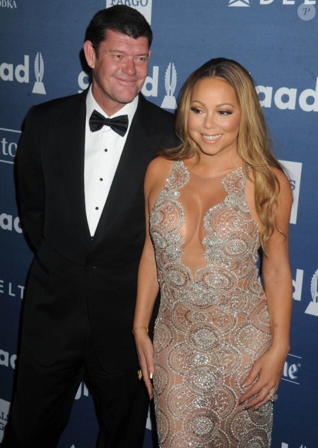 James Packer et sa fiancée Mariah Carey à la 27ème soirée annuelle Glaad Media à The Waldorf-Astoria à New York. Le 14 mai 2016