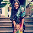 Yelena Noah avec son fils à Hawaï. Instagram, le 28 mai 2018.