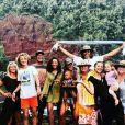 Yannick Noah avec tous ses enfants, petits-enfants, sa femme et son ex-femme lors de vacances à Hawaï. Instagram, mai 2018.