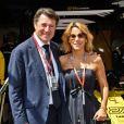 Christian Estrosi, le maire de Nice, et sa femme Laura Tenoudji dans les paddocks lors du 76ème Grand Prix de Formule 1 de Monaco, le 26 mai 2018. © Bruno Bebert/bestimage