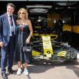 Christian Estrosi et sa femme Laura Tenoudji dans les paddocks lors du 76ème Grand Prix de Formule 1 de Monaco, le 26 mai 2018. © Olivier Huitel/Pool Monaco/Bestimage