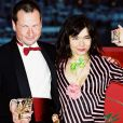"Lars von Trier et Björk, primés à Cannes pour ""Dancer in the Dark"", en mai 2000."