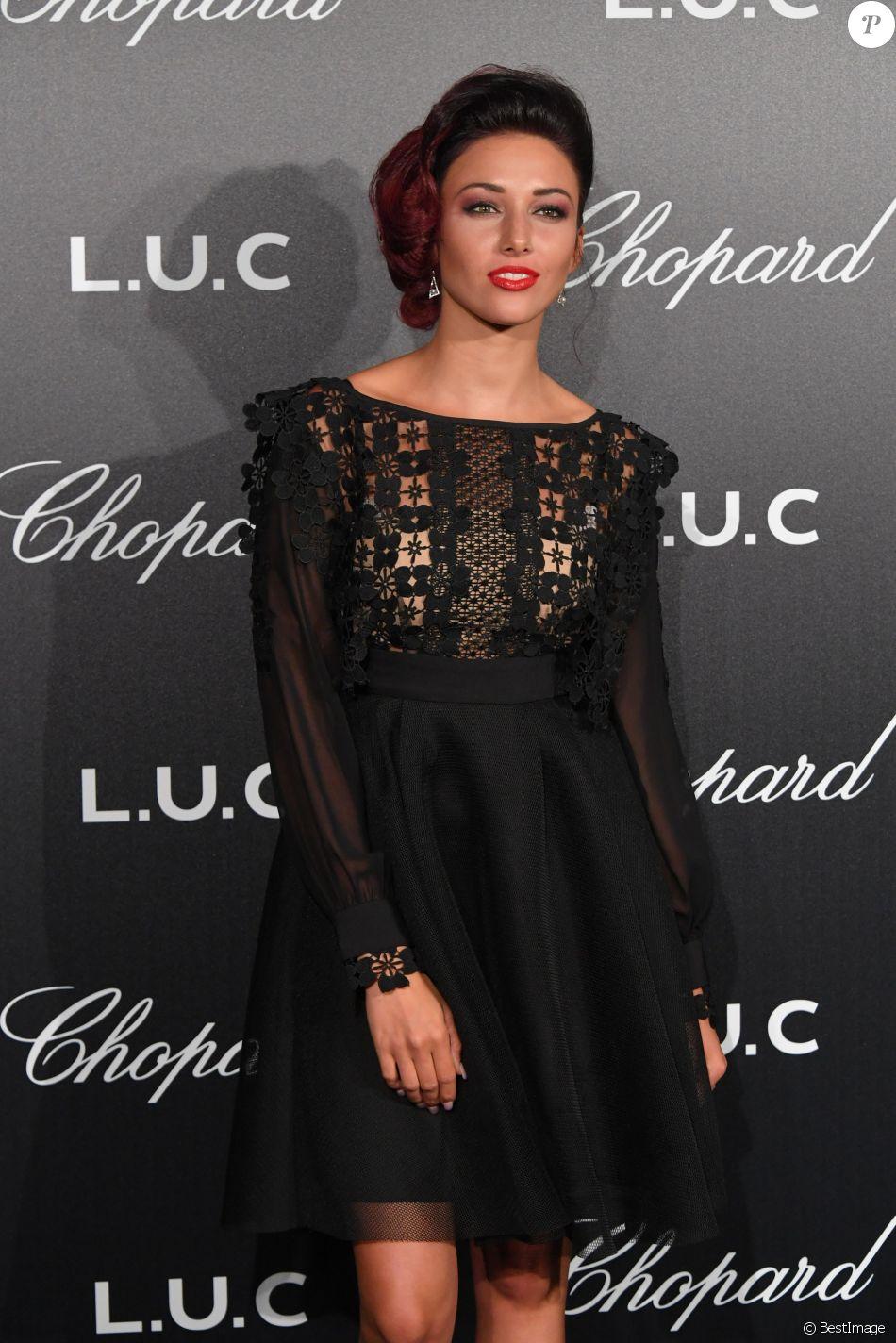 """Delphine Wespiser (Miss France 2012) - Photocall de la soirée """"The Gentlemen's Evening"""" par Chopard à l'hôtel Martinez lors du 71ème festival international de Cannes le 9 mai 2018."""