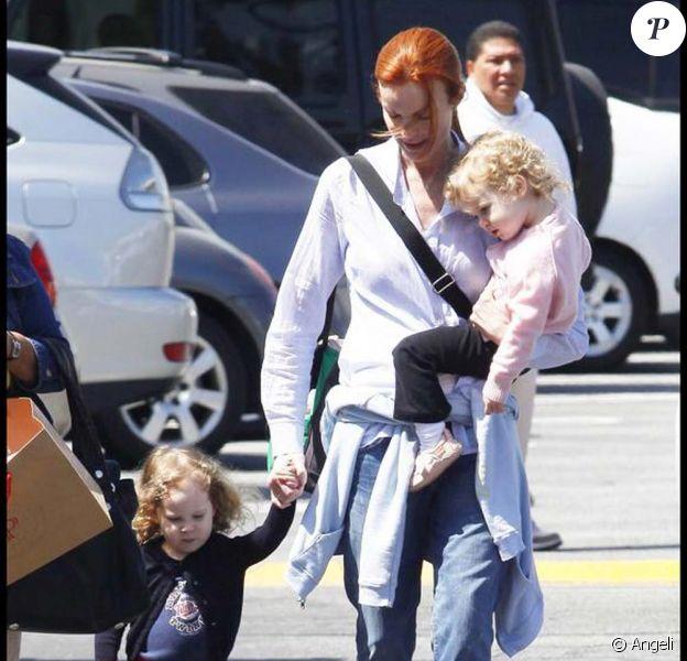 Marcia Cross et ses jumelles Eden et Savannah, en avril 2009, à Los Angeles