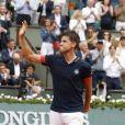 Quart de finale du tournoi de Roland-Garros opposant Dominic Thiem à Alexander Zverev, le 5 juin 2018.