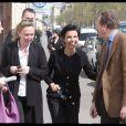 Rachida Dati part faire les marchés du XVe et de la rue Cler (VIIe) pour les élections européennes. Le 11/04/09