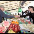 Rachida Dati au stand fruits & légumes...