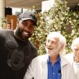 Teddy Riner, Jean-Paul Belmondo, Charles Gérard au village lors des internationaux de tennis de Roland Garros à Paris le 8 juin 2018. © Christophe Aubert via Bestimage