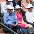 Patrick Balkany - People dans les tribunes des Internationaux de France de Tennis de Roland Garros à Paris. Le 8 juin 2018 © Cyril Moreau / Bestimage