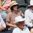 Nathalie Péchalat - People dans les tribunes des Internationaux de France de Tennis de Roland Garros à Paris. Le 8 juin 2018 © Cyril Moreau / Bestimage