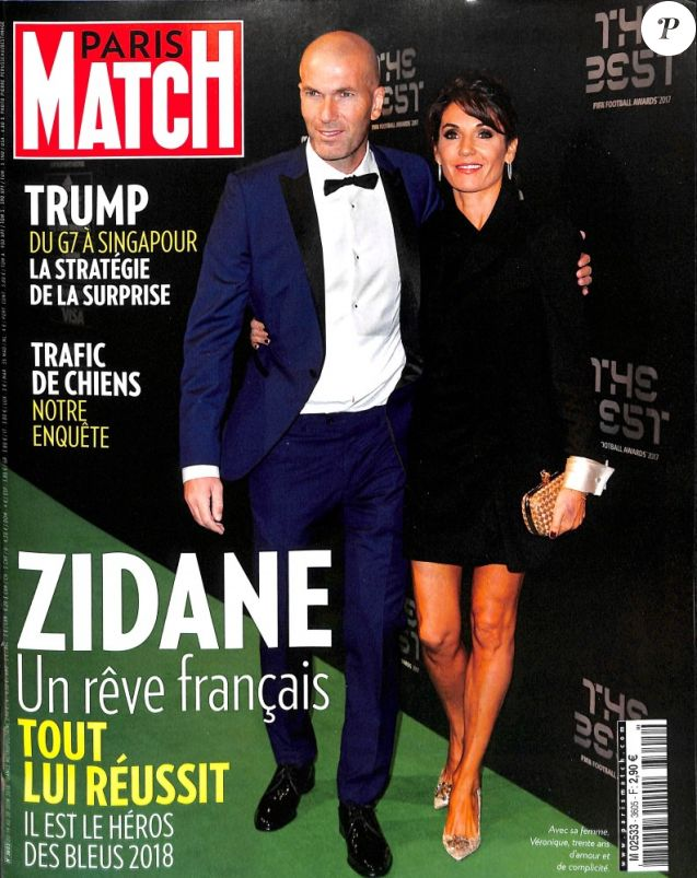 "Couverture du magazine ""Paris Match"" en kiosques le 14 juin 2018."