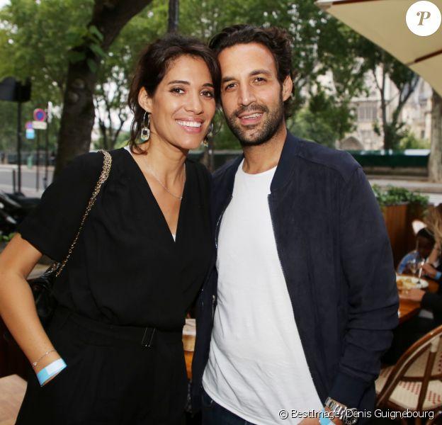 """Exclusif - Laurie Cholewa et Greg Levy - Inauguration du restaurant """"Gabylou Notre-Dame"""" à Paris le 12 juin 2018. © Denis Guignebourg / Bestimage"""