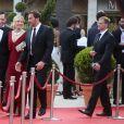 Dominique Zoida, Katherine Kelly Lang, Thorsten Kaye lors de la cérémonie de clôture du 58ème festival de Télévision de Monte-Carlo à Monaco le 19 juin 2018. © Denis Guignebourg / Bestimage