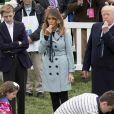 Barron Trump, Donald Trump et sa femme Melania - Le président des Etats-Unis en famille à la Maison Blanche pour les célébrations de Pâques à Washington. Le 2 avril 2018
