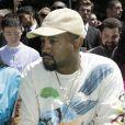 Kanye West au défilé homme printemps-été 2019 Louis Vuitton, signé Virgil Abloh, au Palais-Royal à Paris, le 21 juin 2018. © Olivier Borde / Bestimage