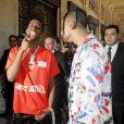 Christian Casey Combs et Quincy Brown, fils de P. Diddy - Arrivées au défilé homme printemps-été 2019 Louis Vuitton, signé Virgil Abloh, au Palais-Royal à Paris, le 21 juin 2018. © CVS / Veeren / Bestimage